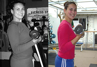 Vicki before and after training at Victors Gym